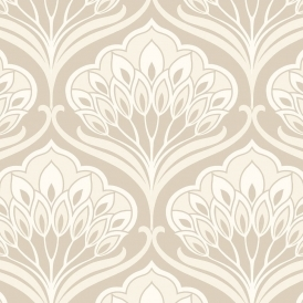 Deco Peacock Wallpaper Neutral