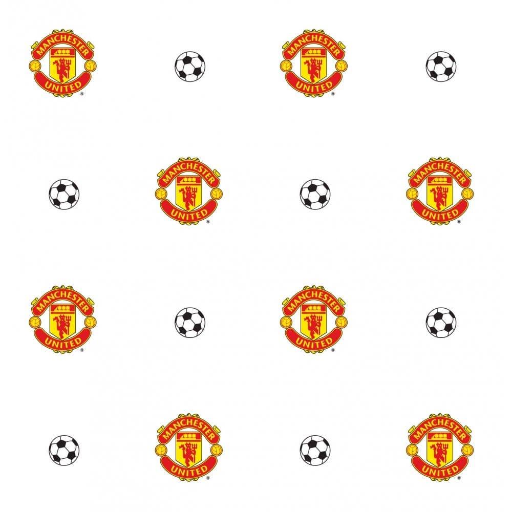 Decofun Manchester Utd Crest Wallpaper Mufc Official