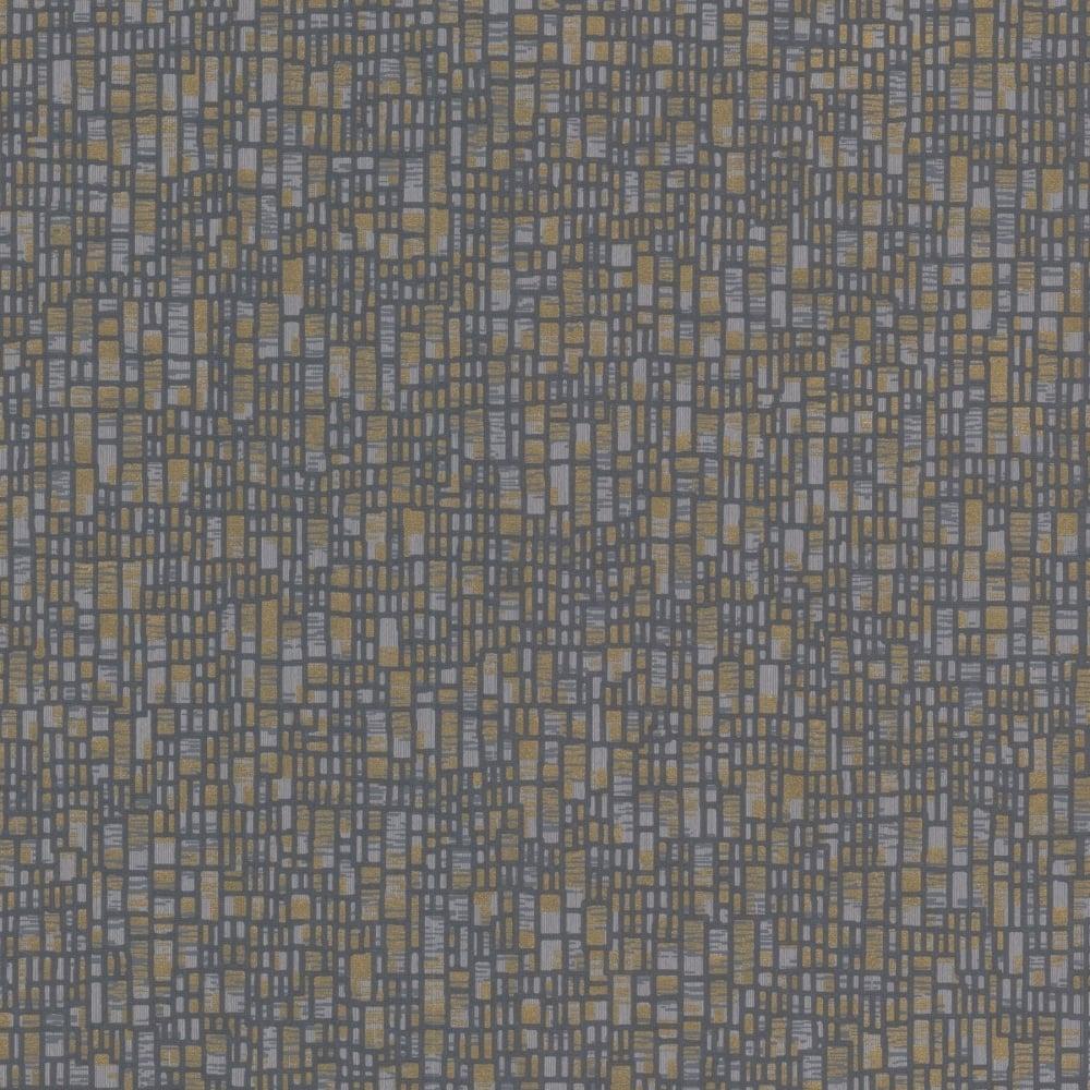 Decorline prism spencer evora wallpaper dark blue gold for Dark blue and gold wallpaper