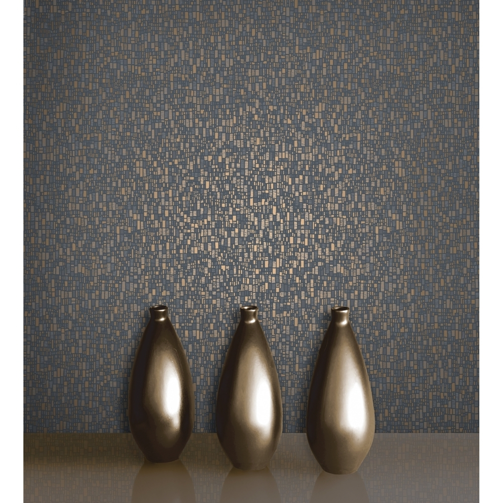decorline prism spencer evora wallpaper dark blue gold dl20928