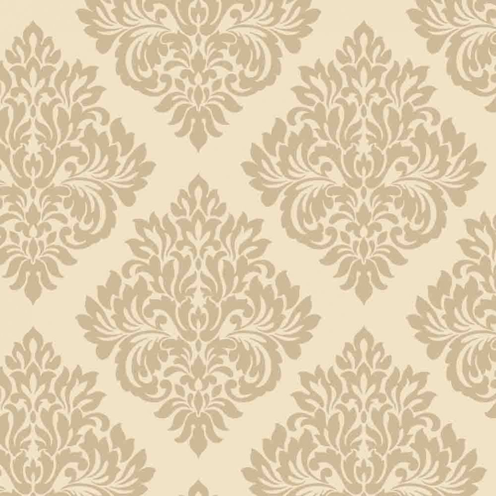 Decorline Sparkle Damask Wallpaper Cream Gold DL40213