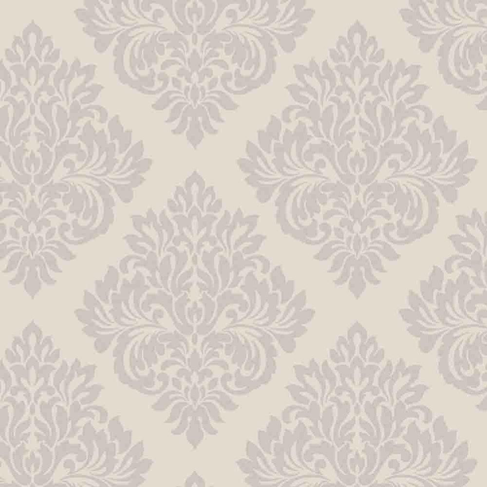 decorline sparkle damask wallpaper putty / silver (dl40193