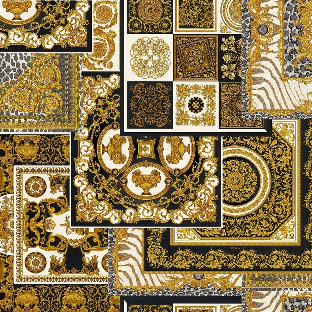 Decoupage Tile Wallpaper Black Wallpaper From I Love