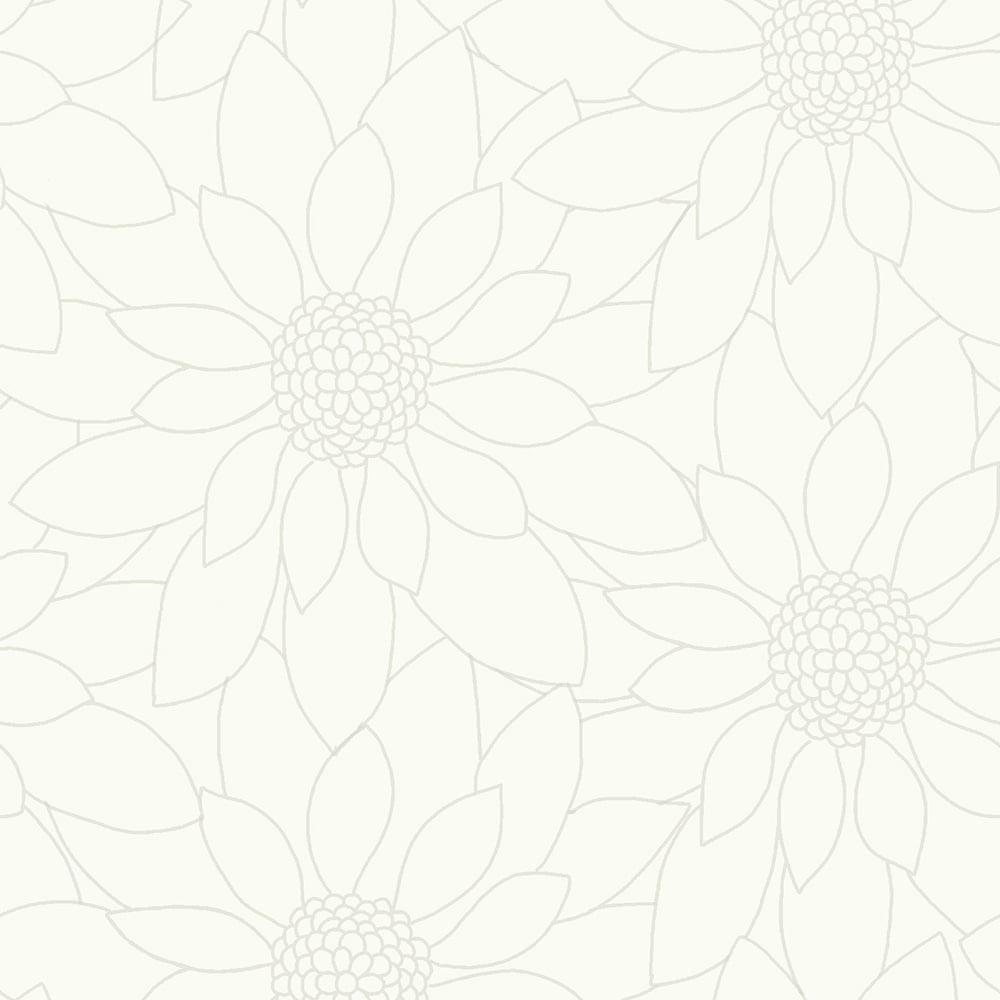 Designer Interiors Louisa Floral Wallpaper White (89150) - Wallpaper ...