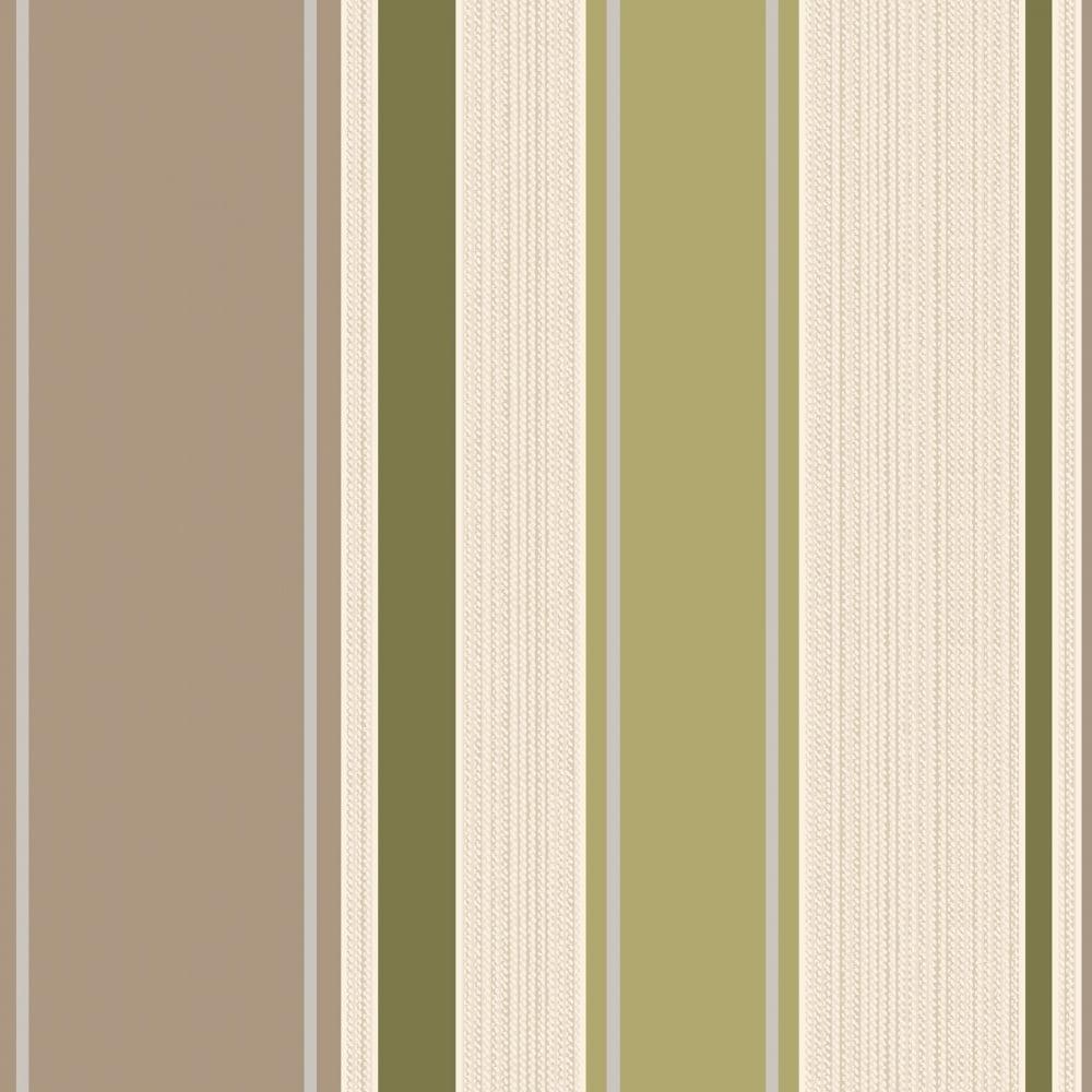 Rico Stripe Wallpaper Lime Cream 75622