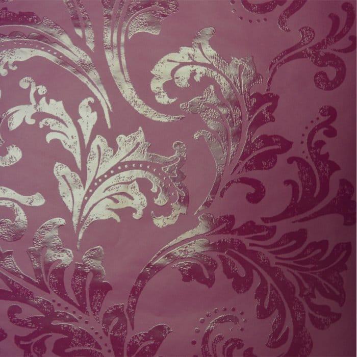 Acanthus Berry Wallpaper Purple Plum Wallpaper From I