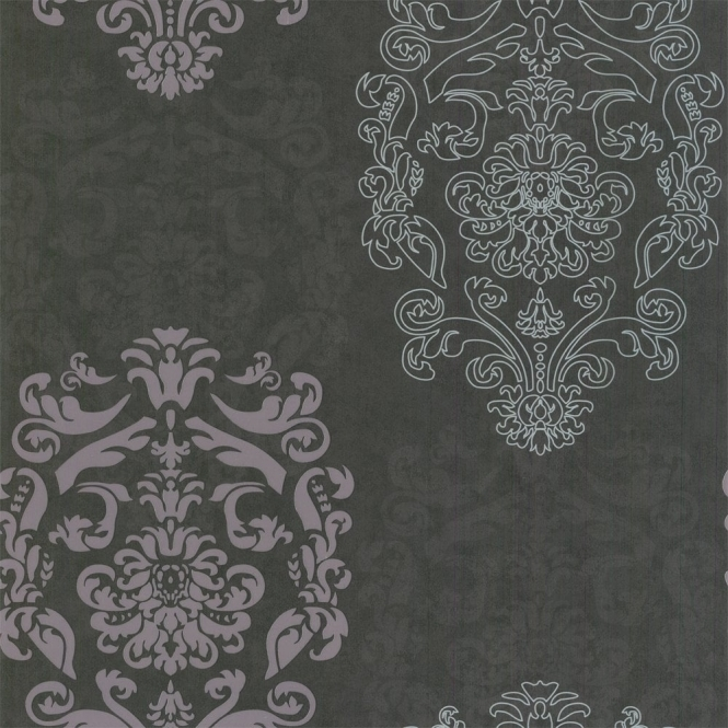 Designer Selection Bold Damask Wallpaper Plum (01429BOL)
