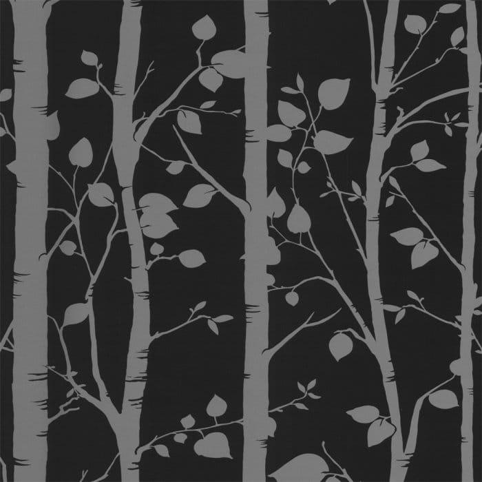 Designer Selection Gothic Tree Wallpaper Black Charcoal