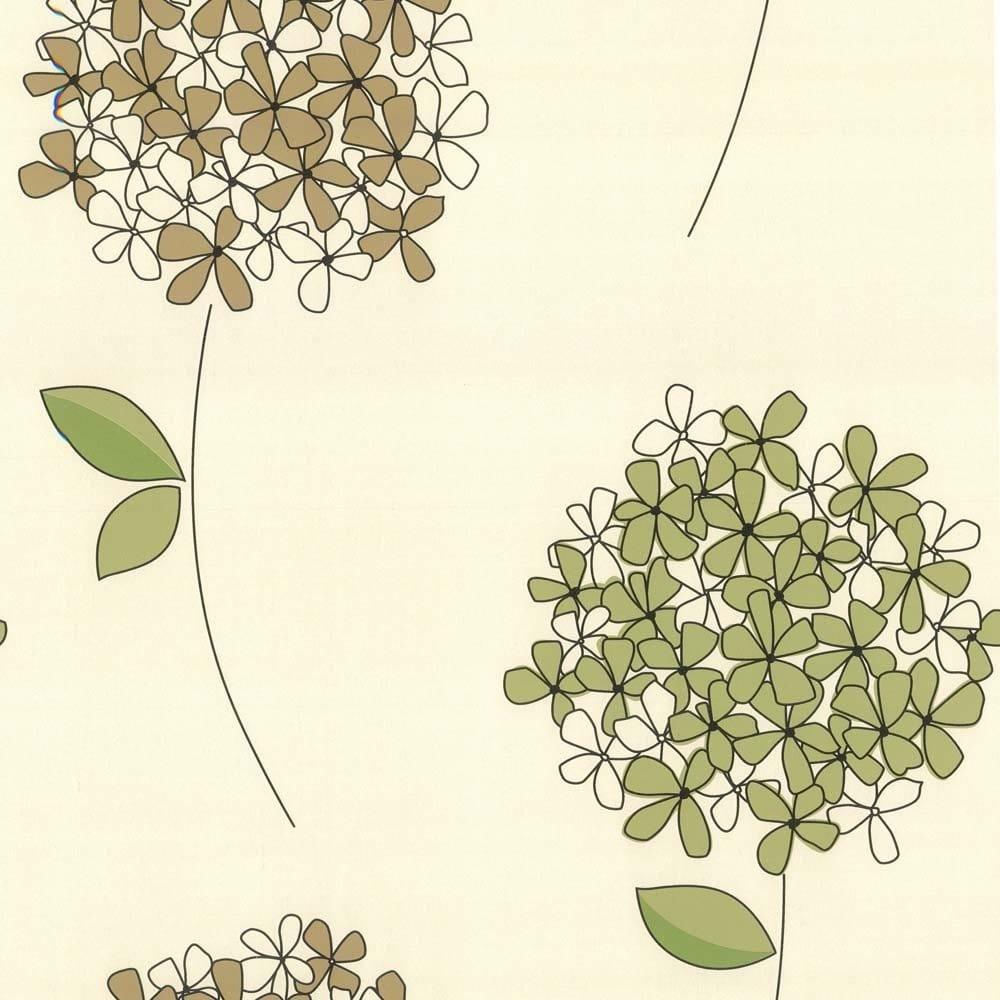Designer Selection Hannah Flower Feature Wall Wallpaper