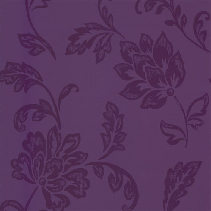 Jasmine Floral Wallpaper Purple