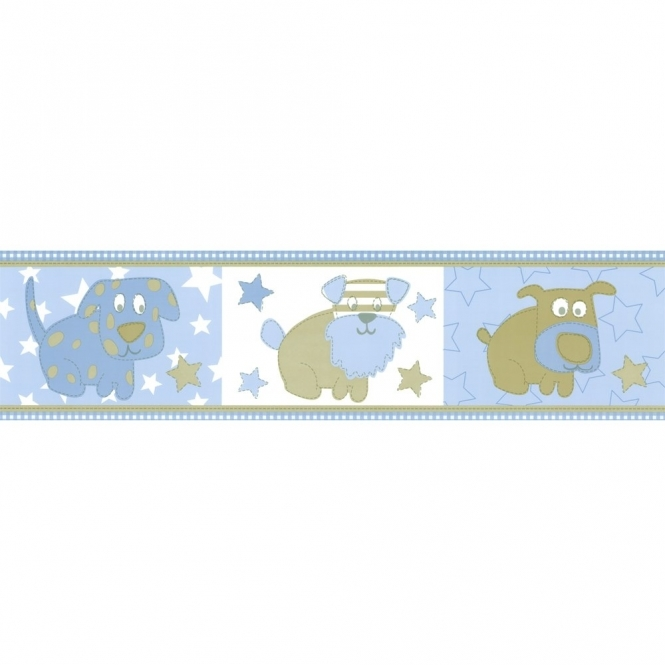 Designer Selection Little Puppy Self Adhesive Wallpaper Border (01429LIT)