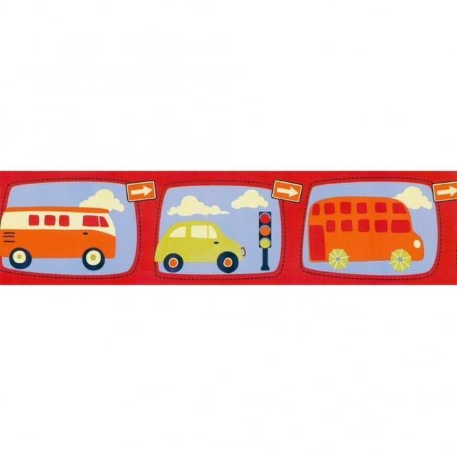 Designer Selection Little Vehicles Self Adhesive Wallpaper