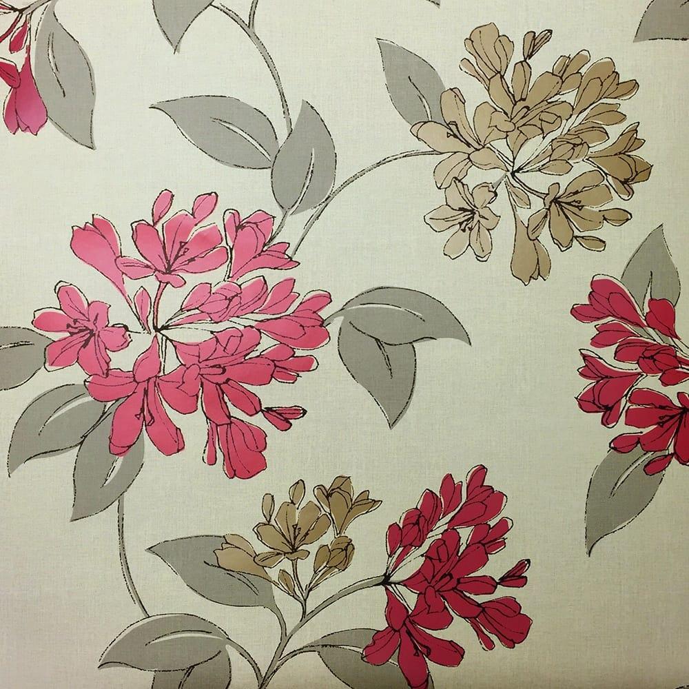 Orphelia Flower Wallpaper Red Gold Beige 0142ORPH