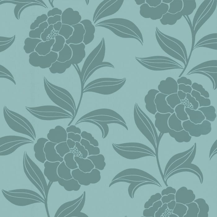Velvet Wallpaper Teal Blue