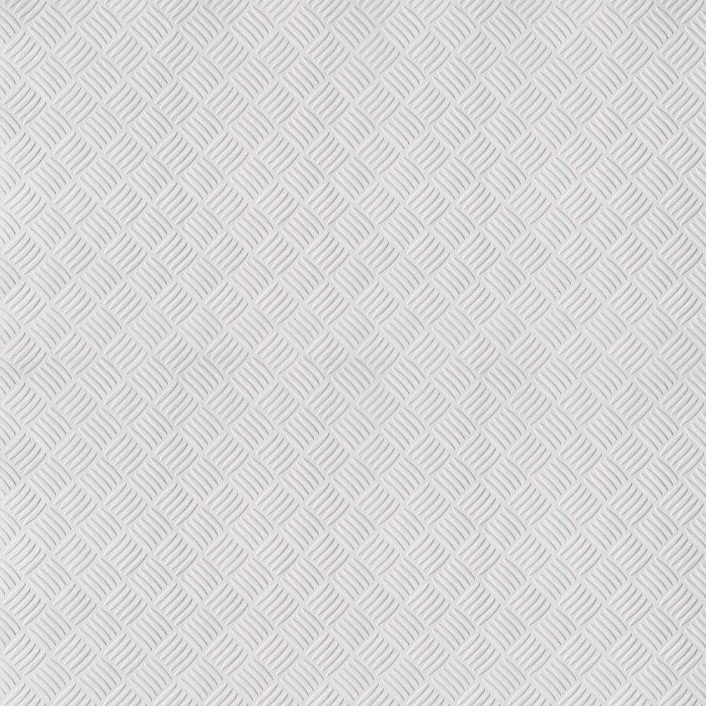 erfurt diamond checker paintable embossed wallpaper white