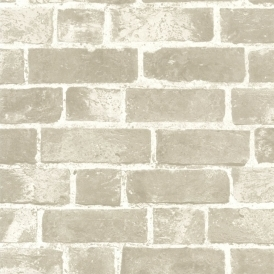 Distinctive Brick Wallpaper Cream Taupe