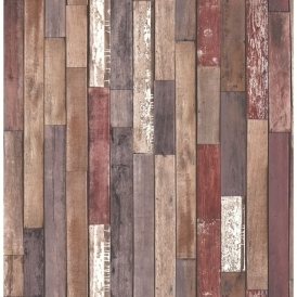 Distinctive Parquet Wood Reclaim Wallpaper Brown