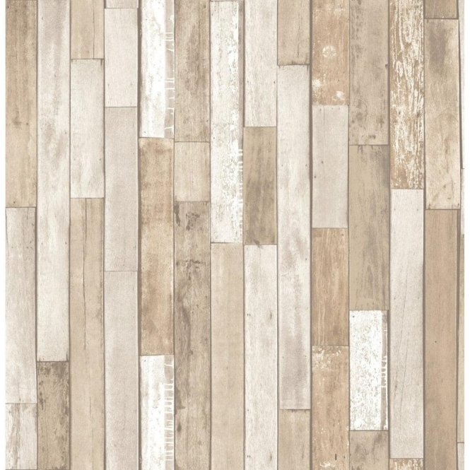 Fine Decor Distinctive Parquet Wood Reclaim Wallpaper Cream (FD40889)