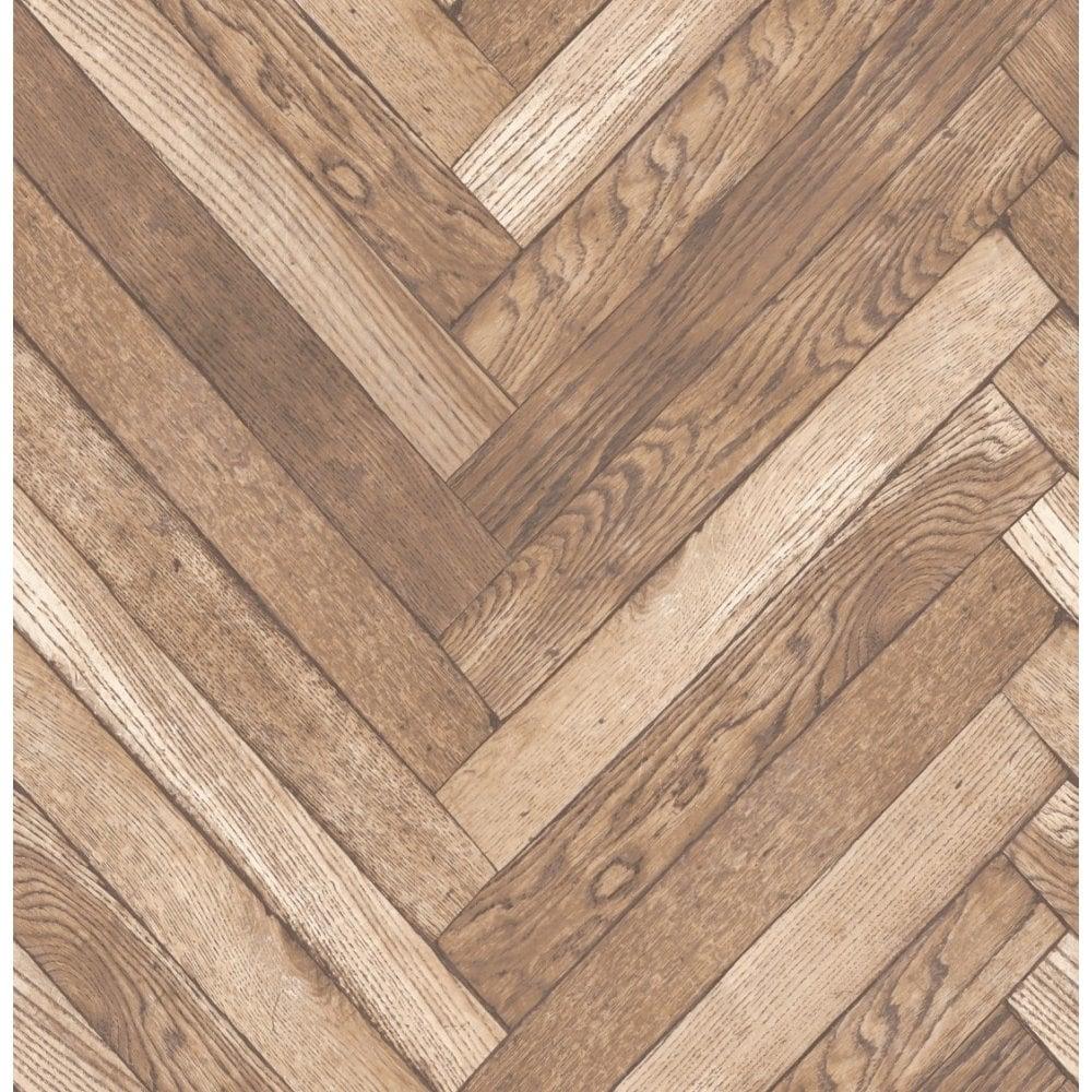 Distinctive Parquet Wood Wallpaper Natural Beige Fd40881