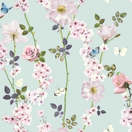 Dreamscape Floral Trail Wallpaper Blue