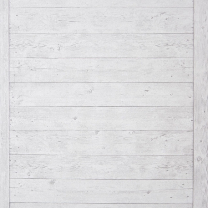 Caselio Echelle Bois Wood Panel Wallpaper White