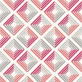 Echo Geometric Wallpaper Coral