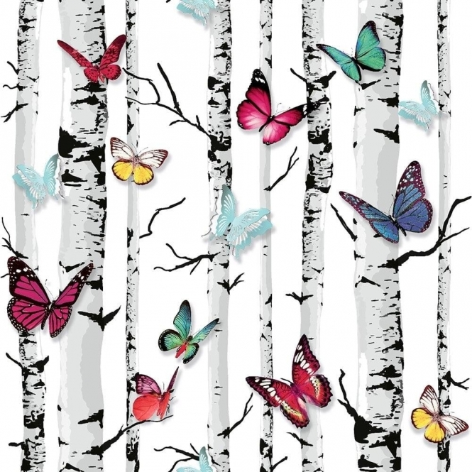 Muriva Emperors Garden Wallpaper White, Multicoloured (102529)
