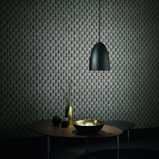 Erismann Brix 2 Wallpaper Charcoal (6942-15)