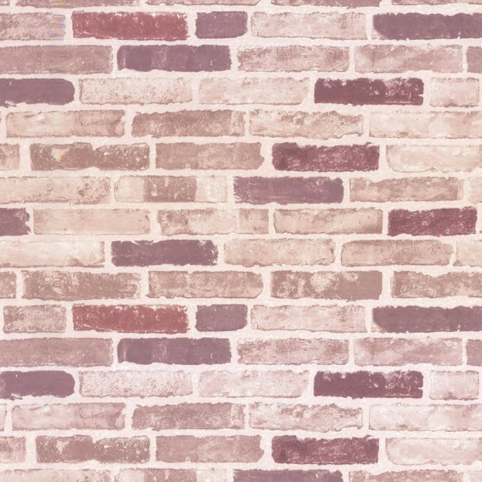 Erismann Brix Traditional Red Brick Effect Wallpaper - Patterned Wallpaper from I Love Wallpaper UK