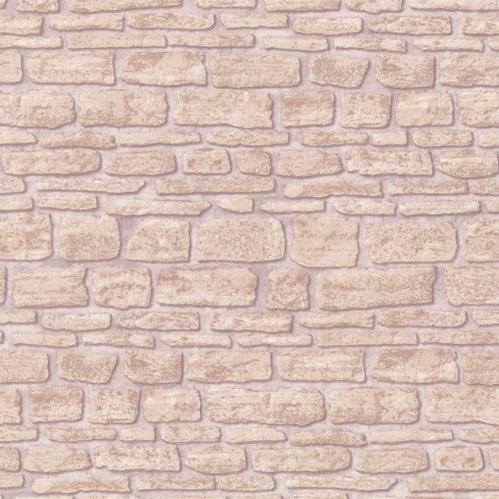 Erismann Brix Traditional Sand Brick Effect Wallpaper - Wallpaper from I Love Wallpaper UK