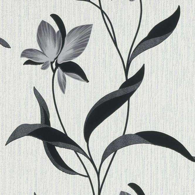 Erismann Fleur Wallpaper Black 9730 15 Wallpaper From