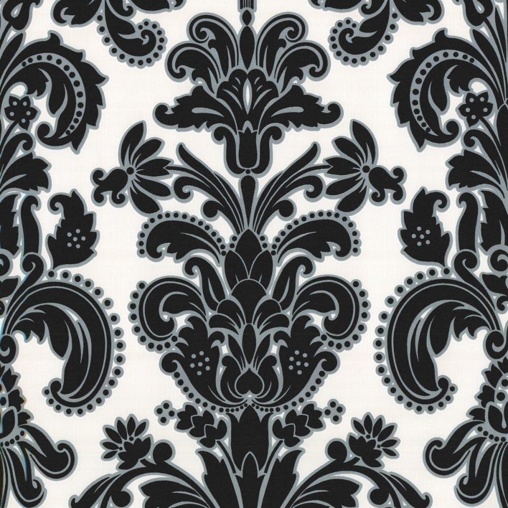 Erismann regal damask wallpaper black white 9698 15 for White wallpaper uk