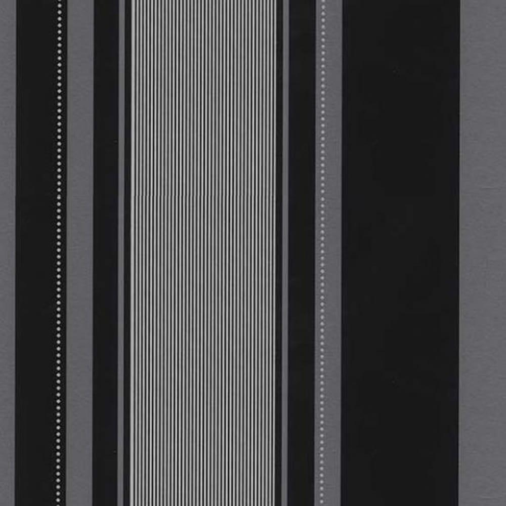 Erismann Venice Stripe Wallpaper Black 9728 15