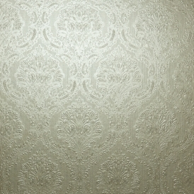Fabrique Mid Damask / Stria Wallpaper Greige