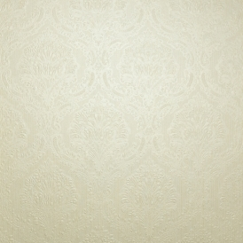 Fabrique Mid Damask / Stria Wallpaper Soft Yellow