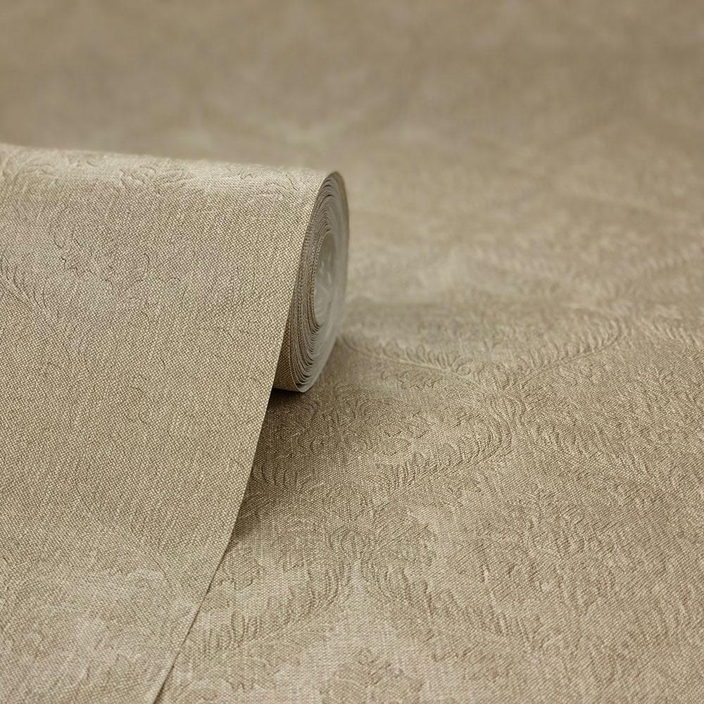 Fabrique New Small Damask Wallpaper Linen
