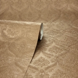 Fabrique New Small Damask Wallpaper Linen Smooth