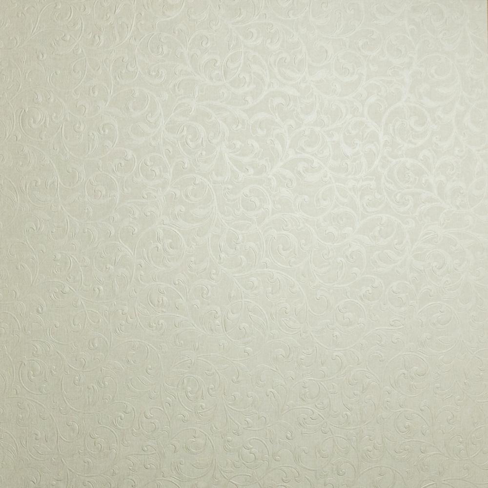 Fabrique Scroll Wallpaper Linen