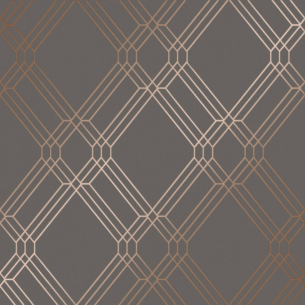 I Love Wallpaper Filigree Geometric Wallpaper Charcoal