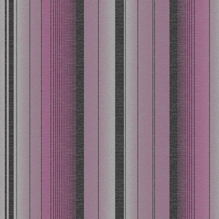 Fine Decor Amelia Striped Wallpaper Purple Silver