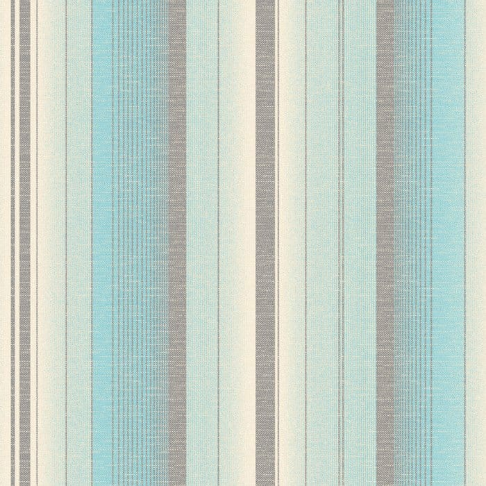 Amelia Striped Wallpaper Teal Cream Patterned