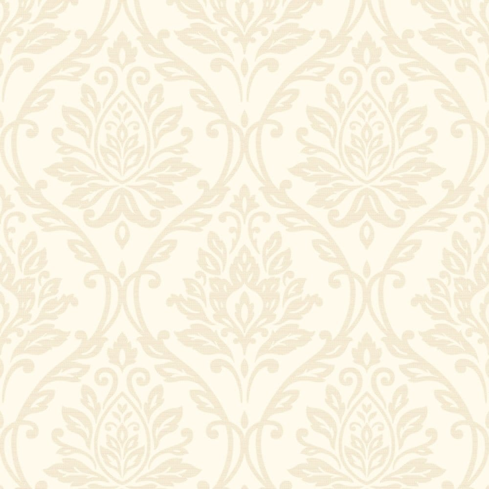 Athena Damask Wallpaper Beige Fd40406 Wallpaper From I