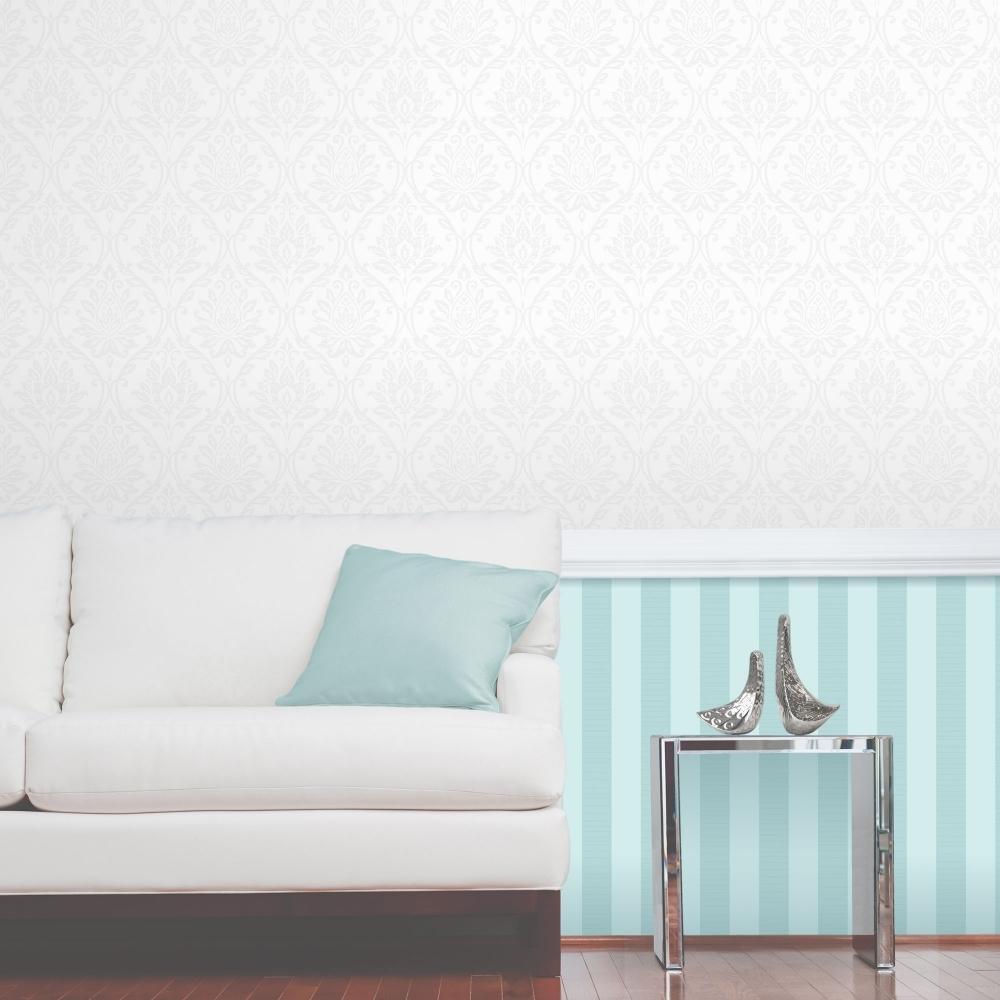 Fine Decor Athena Damask Wallpaper White Fd40405 Wallpaper