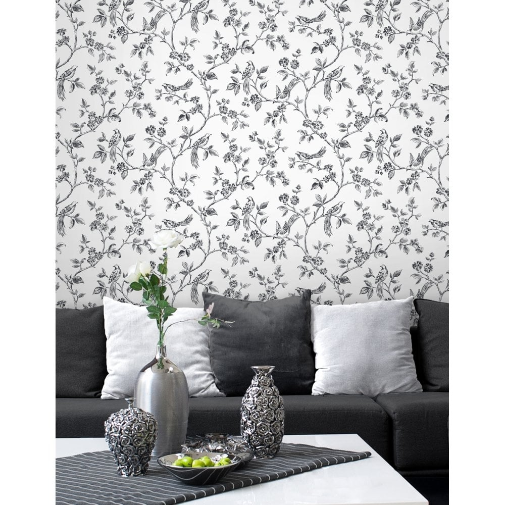Birds From Live Laugh Love Collection White Black Fd40289
