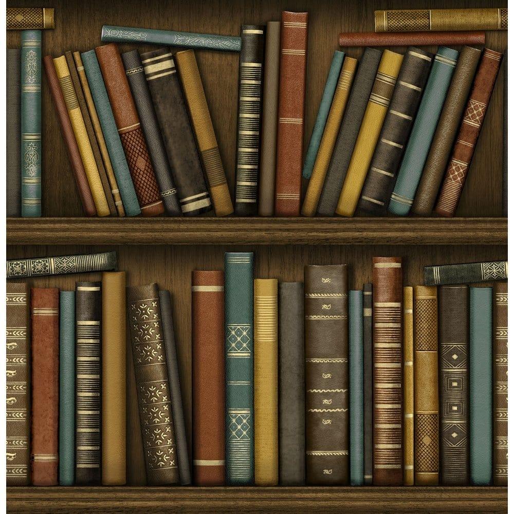Fine Decor Bookcase Effect Wallpaper Fd40546 Wallpaper