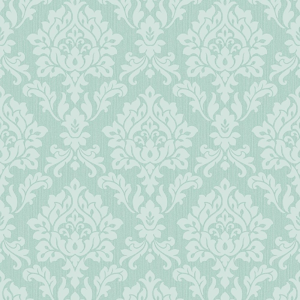 Fine Decor Burlington Damask Wallpaper Mint Fd40624