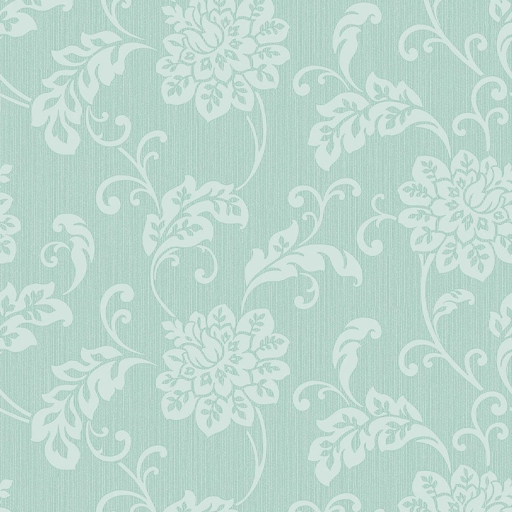 Fine Decor Burlington Floral Wallpaper Mint Fd40628