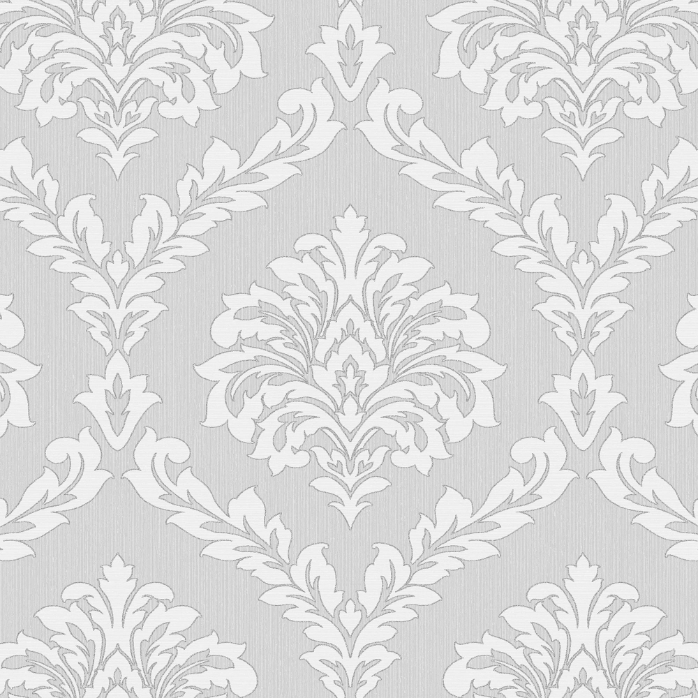Fine Decor Cavendish Damask Wallpaper Grey FD40986