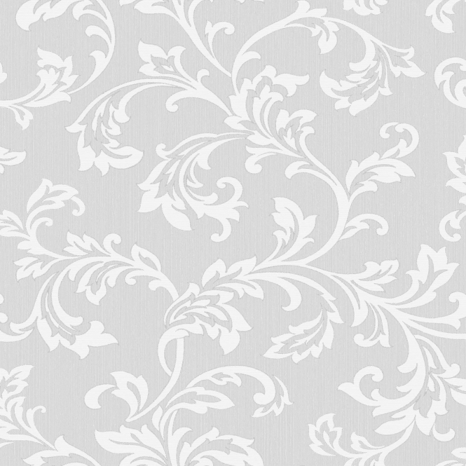 Fine Decor Cavendish Floral Wallpaper Grey (FD40990)