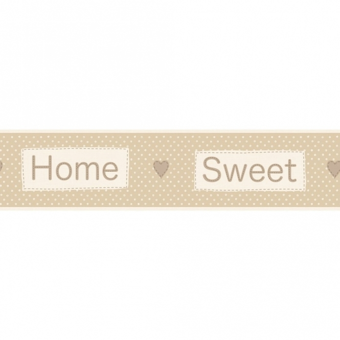 Fine Decor Ceramica Home Sweet Home Self Adhesive Border Beige / Cream (FDB50049)